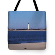 Lighthouse At The Point Tote Bag