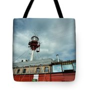 Lighthouse-boat Tote Bag