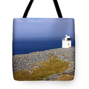 Lighthouse Cliff Tote Bag