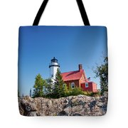 Lighthouse Eagle Harbor Lake Superior -6533 Tote Bag