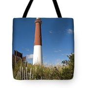 Lighthouse From Dunes Tote Bag