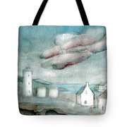 Lighthouse Harbour 1 Tote Bag