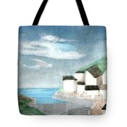 Lighthouse Harbour 2  Tote Bag