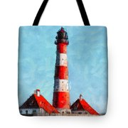 Lighthouse - Id 16217-152045-8706 Tote Bag