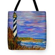 Lighthouse- Impressionism- The Coast Tote Bag