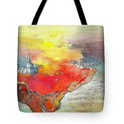 Lighthouse In Albir On The Costa Blanca Tote Bag