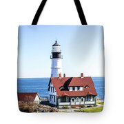 Lighthouse In Maine Tote Bag