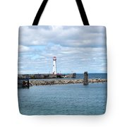Lighthouse In Michigan Tote Bag