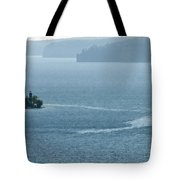 Lighthouse In The Bay Tote Bag