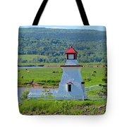 Lighthouse Landscape Three Tote Bag