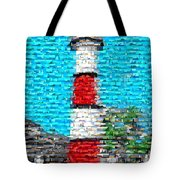 Lighthouse Made Of Lighthouses Mosaic Tote Bag