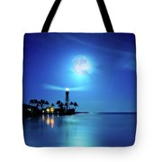 Lighthouse Moon Tote Bag
