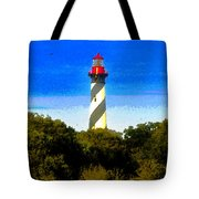 Lighthouse Of Saint Augustine Tote Bag