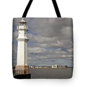 Lighthouse On A Sunny Day. Tote Bag