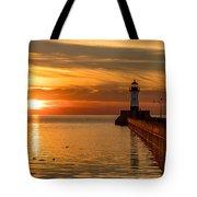 Lighthouse On Glass Tote Bag