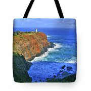 Lighthouse On The Hill Tote Bag by Scott Mahon