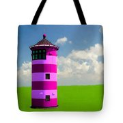 Lighthouse On The Island Tote Bag