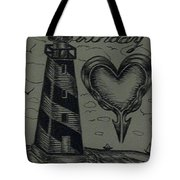 Lighthouse Out In The Sea Tote Bag