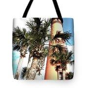 Lighthouse Palms Tote Bag