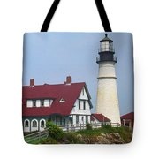 Lighthouse - Portland Head Maine Tote Bag