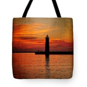 Lighthouse Silhouette  Tote Bag