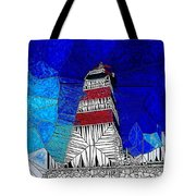 Lighthouse Stained Glass  Tote Bag