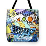 Lighthouse Storm Tote Bag