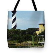 Lighthouse Water View Tote Bag