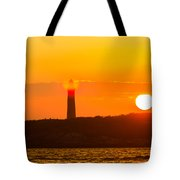 Lighthouse With Flare Tote Bag
