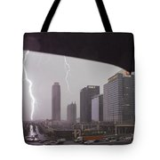 Lighting Up Atlantic Station Tote Bag