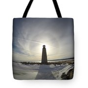 Lighting Your Winter Halo Tote Bag