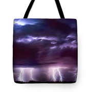 Lightning Above And Below Tote Bag