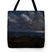 Lightning And Light Trails Tote Bag