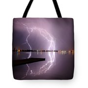 Lightning And Water Tote Bag