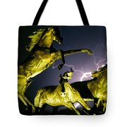 Lightning At Horse World Fine Art Print Tote Bag