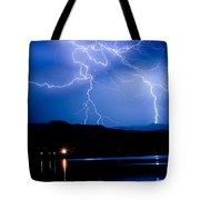 Lightning Blues Tote Bag