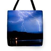 Lightning Blues Tote Bag