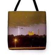 Lightning Bolts Striking In Loveland Colorado Tote Bag