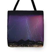 Lightning City Tote Bag
