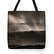 Lightning Cloud Burst Boulder County Colorado Im39 Sepia Tote Bag