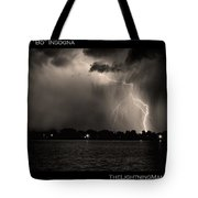 Lightning Energy Poster Print Tote Bag