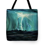 Lightning On The Prairie Tote Bag