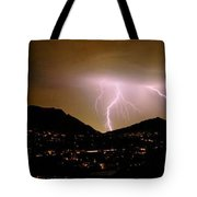 Lightning Over Camelback Tote Bag