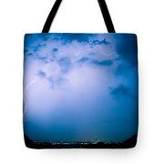 Lightning Rainbow Blues Tote Bag