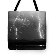 Lightning Storm 08.05.09 Bw Tote Bag