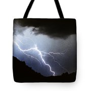 Lightning Strike Bump In The Road Tote Bag