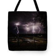 Lightning Strikes Tote Bag