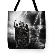 Lightning Strikes The Angel Gabriel Tote Bag