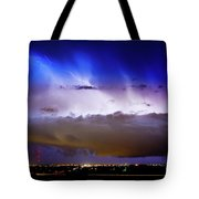 Lightning Thunder Head Cloud Burst Boulder County Colorado Im39 Tote Bag by James BO  Insogna