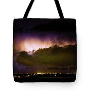 Lightning Thunderstorm Cloud Burst Tote Bag